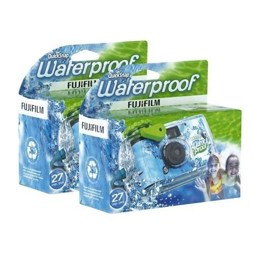 2 Pack Fujifilm Waterproof Disposable Camera