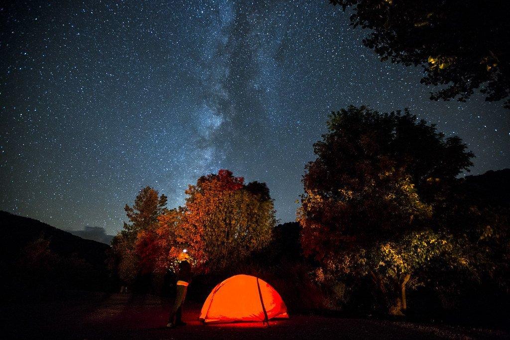 Grand Canyon Camping - camping tent under stars
